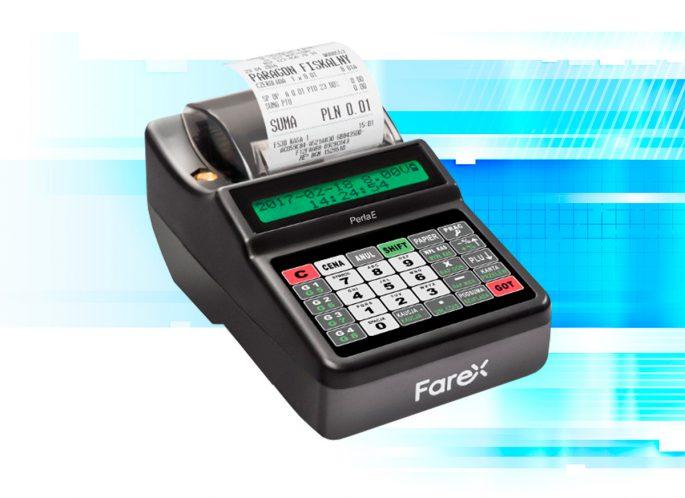 Niedroga i praktyczna kasa marki Farex